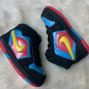 Nike Infant Black Colorful Velcro High Top Shoes
